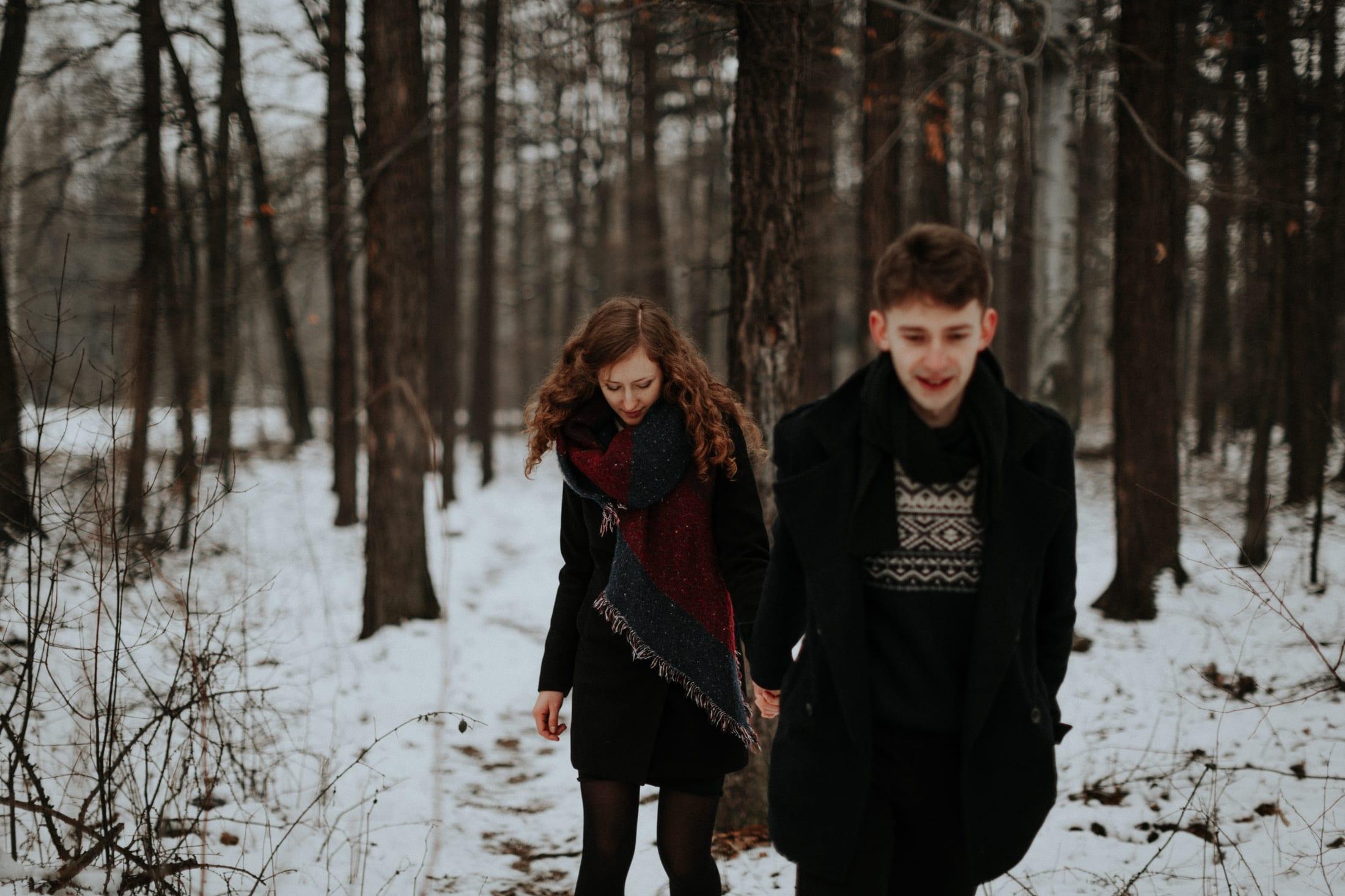 Ala & Piotrek <br>Zimowa sesja narzeczeńska 31