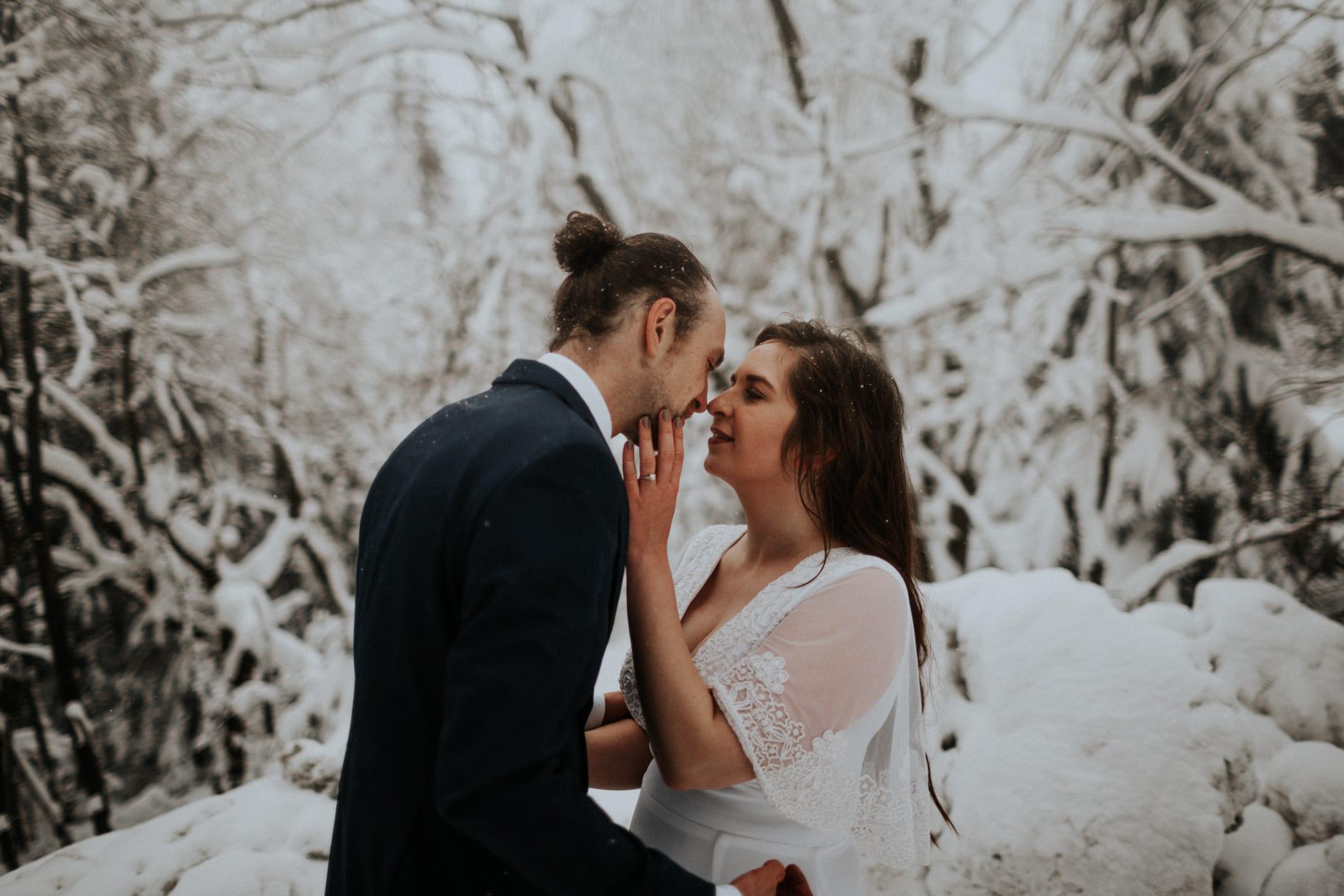 Kasia & Mariusz <br>Zimowa sesja w górach 15